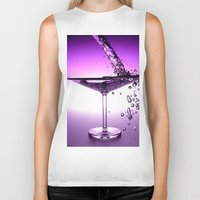 martini Biker Tanks featuring Martini by Littlebell
