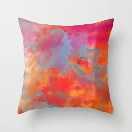 Dreamscape [tropical clouds] Throw Pillow