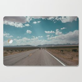 cows on the open road Cutting Board