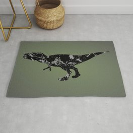 T-rex - black and gray Rug