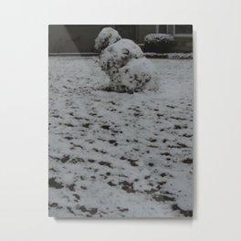 Tipsy Snowman Metal Print