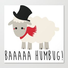 Bah Humbug - Lamb Canvas Print