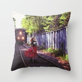 Time Goes Faster Throw Pillow