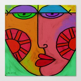 Colorful Abstract Digital Painting of a Face Canvas Print