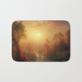 Autumn Landscape by Frederic Edwin Church Bath Mat