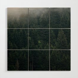 Mystic Pines - A Forest in the Fog Wood Wall Art