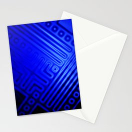 Blue Grid Stationery Cards