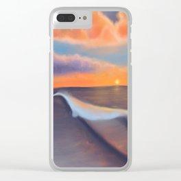 Lavender Beach Sunset Clear iPhone Case