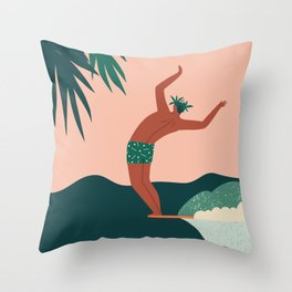 Go with a flow Throw Pillow