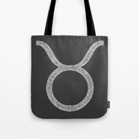 taurus Tote Bags featuring Taurus by David Zydd