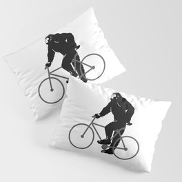 Bigfoot  riding bicycle Pillow Sham