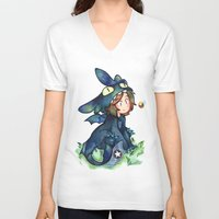 toothless V-neck T-shirts featuring toothless by noCek