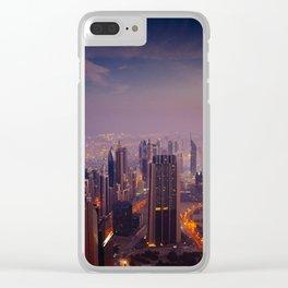 Dubai Colors Clear iPhone Case