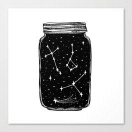 Mason Jar of Stars Canvas Print