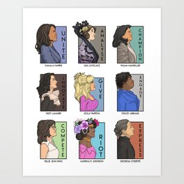 She Series - Real Women Collage Version 3 Art Print