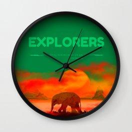 Explorer fant Wall Clock