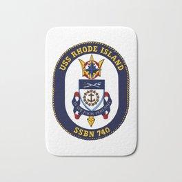 USS RHODE ISLAND (SSBN-740) PATCH Bath Mat