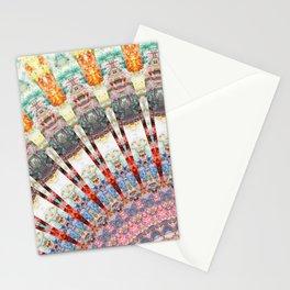 Teal Orange Yellow Boho Mandala Stationery Cards
