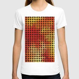 Autumn Tone Wooden Weave Pattern T-shirt
