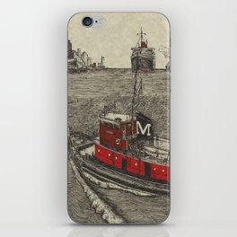 Morgan Tugboat, Hudson river, New York iPhone Skin