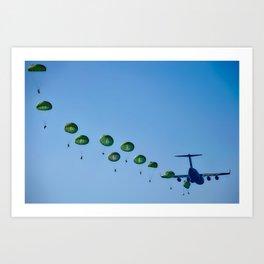 paratrooper drop Art Print