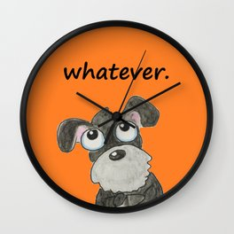 Couldn't care less Wall Clock