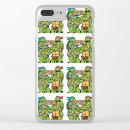 Turtles Cowabunga To Pizza Clear iPhone Case
