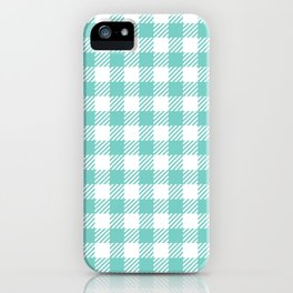 Turquoise Vichy iPhone Case