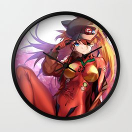 Asuka Langley Sohryu Wall Clock