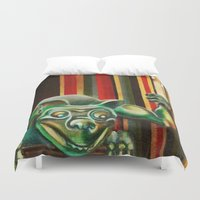 """haunted mansion Duvet Covers featuring Disneyland Haunted Mansion inspired """"Wall-To-Wall Creeps No.2"""" by ArtisticAtrocities"""