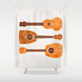 Hawaiian Ukuleles Shower Curtain