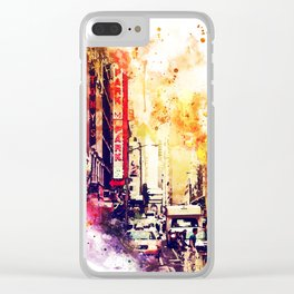 NYC Watercolor Collection - Urban Atmosphere Clear iPhone Case