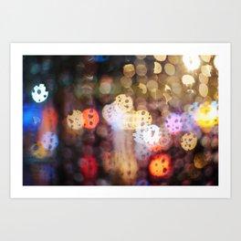 Rainy Night in Taiwan Art Print