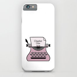 Chapter One Typewriter iPhone Case