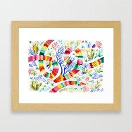 Dragon Deer Framed Art Print