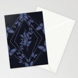 Insecta Pattern - Indigo Wash Stationery Cards