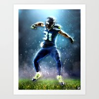 seahawks Art Prints featuring SEAHAWKS POWER by THEMAD3
