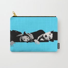 Chaplin and the kid - turquoise Carry-All Pouch