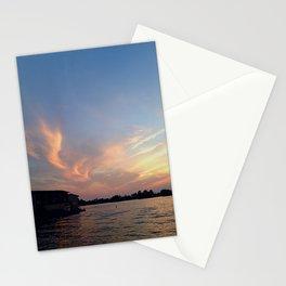 Sunset over Boldt Castle Stationery Cards