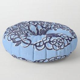 Tree of Life Blue Floor Pillow