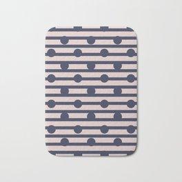 Stripe and spot - Navy Bath Mat