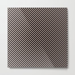 Black and Pale Dogwood Polka Dots Metal Print
