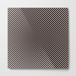 Black and Pale Dogwood Polka Dots Metal Print