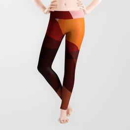 Abstraction_Mountains_SUNSET_Minimalism Leggings