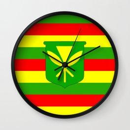 Kanaka Maoli Flag Wall Clock