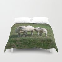 cows Duvet Covers featuring White Cows by BACK to THE ROOTS