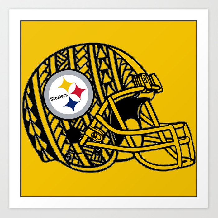 Polynesian style Steelers Art Print by lonicaphotography_polydesigns ...