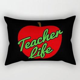 Teacher Life Gift Teaching Love Back To School 100 Days Rectangular Pillow