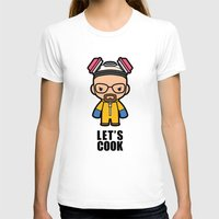 cook T-shirts featuring Let's Cook by Papyroo