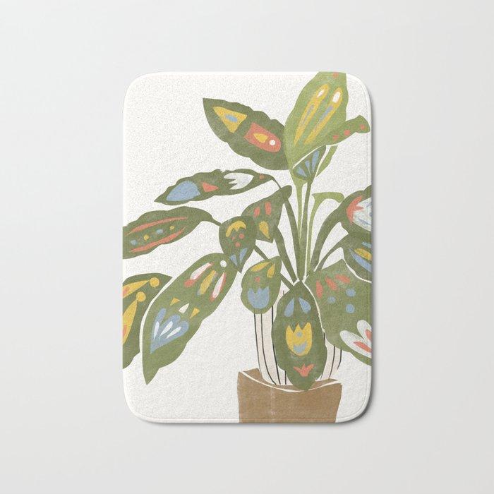 Scandinavian Plant Bath Mat